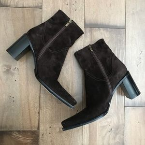 Casadei Suede Dark Brown Ankle Boots Booties 39